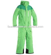 2014 waterproof women winter ski snow suit one piece green