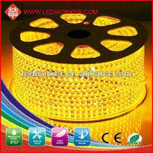 High Voltage led smd 60 led/m 50m strip light 220v outdoor IP67 waterproof outdoor white christmas led strip 3 meter long