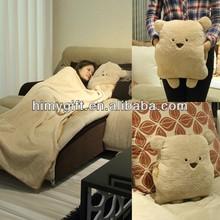 animal shaped plush 2 in 1 pillow blanket