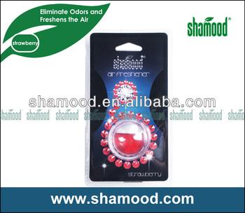 5ML Round Shape Crystal Liquid Car Vent Air Freshener With Strawberry Fragrance