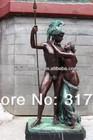 naked man bronze sculpture