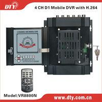 Basic version! 4CH D1 H.264 HDD mobile DVR,CE FCC certificated, VR8800N(V3.1)