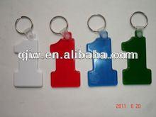Plastic promotional keychain