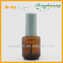brown glass nail polish container color material