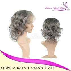 short hair mixed grey wig