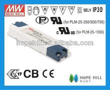 led driver 700ma/Meanwell 25W Single Output LED Power Supply