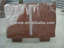 American Imperial Red Granite Tombstone Headstone Book Design