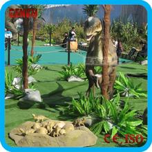Outdoor amusement fibre glass dinosaur statues