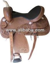 Natural DD Leather Western Barrel Racer Horse Saddles