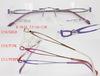 rimless titanium eyeglasses for lady