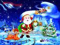 lenticular 3d cartão de natal