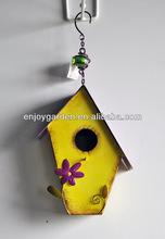 Metal decorative bird house