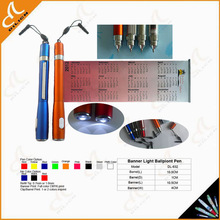 high quality banner light ballpiont pen
