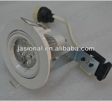 3*3W led gimble downlight in white with cold white big terminal blocks