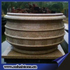 Various material white granite brown marble garden planters bowl pots