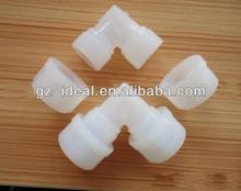 Fluro PVDF/ PFA/ FEP Plastic elbow pipe