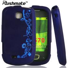 For Samsung Galaxy Mini S5570 Dark Purple Laser Cut Case Silicone Covers