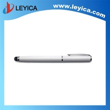 White metal gift items roller pen with touch - LY-S09