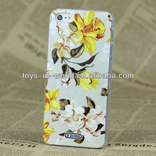 Vintage elegant yellow flower pattern for iphone 5 cases unique