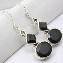 Silver Jewelry, Bring The Heat !! Black Onyx 925 Sterling Silver Earring, 925 Sterling Silver Jewelry ER0070680