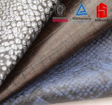 Faux snakeskin pu leather fabric