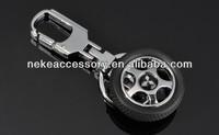 Fashion tyre shaped Car symbol Logo Metal Key chain