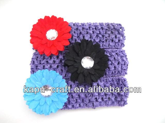 1.5 inç tığ bebek headbands satılık çiçek