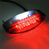 Motorcycle Red License Plate Brake Tail Light For Honda Yamaha Suzuki Kawasaki