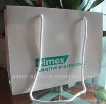 brown striped kraft paper bag/brown paper shopping bags wholesale