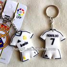 Custom design rubber soccer jersey keychain