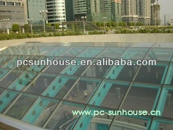 Shenzhen underground Plaza lighting roof polycarboante sheet