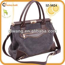New lady genuine nubuck leather messenger bag