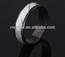 Stripe Stainless Steel Men's Ring Factory Wholesale
