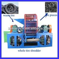 tire shredding machine for rubber powder