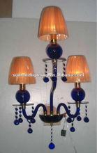 Modern Murano glass wall lamp SL8049--2+1 blue& gold shade