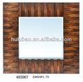 Art hotel pensile specchio incorniciato, di legno vintage specchio da parete decorativo, cornice dello specchio in legno vecchio