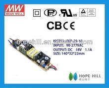 Meanwell 20W 18V Single Output LED Power Supply led driver 24v