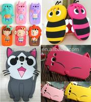 3D Cute Cartoon Animal Silicone Case Cover for SAMSUNG GALAXY III S3 I9300