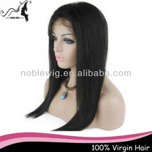 Top fashion wholesale factory price unprocessed virgin hair lacefront wig