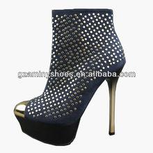 New high heels studs shoes nightclub fashion shoes