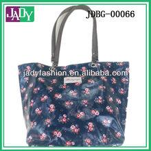 2013 Fashion Printed Women Canvas Shoulder Bag with Logo