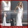 2662 A-line V-neck Beaded Sex Hot Sexy Wedding Dress