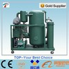 Lubricating oil separator machine output clean oil with less than 50 ppm free water and 1 micron suspended solids, gas 0.1%