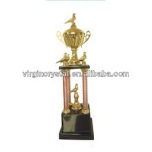 Por encargo de metal trofeo figuras/pájaro de metal de la figura