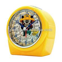 orange alarm clock/desk clock,table clock,Patent uniform light projector alarm clock CK-503