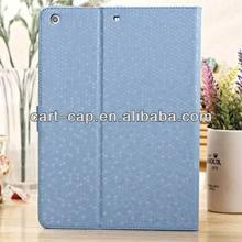 Cool blue diamond PU case for ipad air and ipad 5