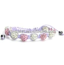 2014 Mix-Color Handmade Cheap Shamballa Bracelets