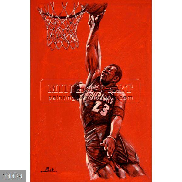 Basketball Oil Painting Basketball Oil Painting