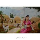 Oil Painting (Village Scene)