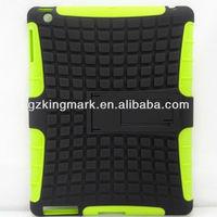 Hybrid Armor Case Silicon + PC Case Kickstand for iPad Mini new ipad ipad3